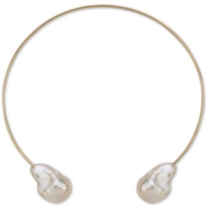 "Macy's Cultured Baroque Freshwater Pearl (14-18mm) 14"" Choker Necklace in 14k Gold"