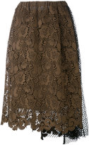 No.21 lace and netting skirt - women - Silk/Polyester/Acetate - 44