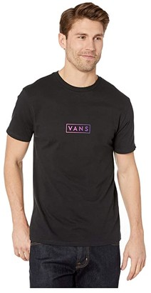 Vans Easy Box Short Sleeve T-Shirt (Black/Fuchsia Purple) Men's T Shirt