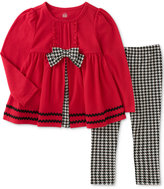 Kids Headquarters 2-Pc. Houndstooth Tunic and Leggings Set, Toddler Girls (2T-5T)