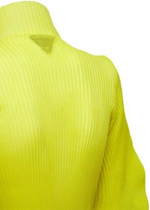 Bottega Veneta Silk Rib Knit Turtleneck Sweater