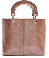 Topshop Rose Crocodile Handle Tote Bag