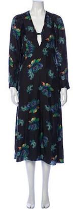 Lake Studio Silk Long Dress Black