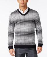 Alfani Men's V-Neck Pattern Sweater, Only at Macy's