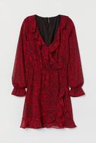 H&M Frill-trimmed wrap dress