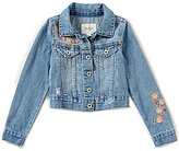 Jessica Simpson Big Girls 7-16 Pixie Embroidered Denim Jacket