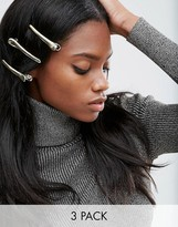 Asos Pack of 3 Smooth Hair Grips