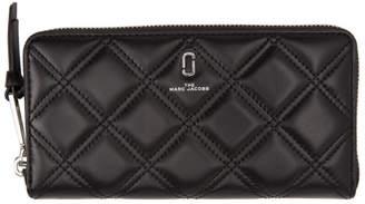 Marc Jacobs Black Quilted Softshot Standard Wallet