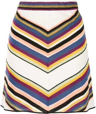M Missoni Striped Mini Skirt