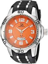 Joshua & Sons Men's JX110OR Round Dial Three Hand Quartz Strap Watch