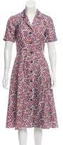 Michael Kors Paisley Print Silk Dress