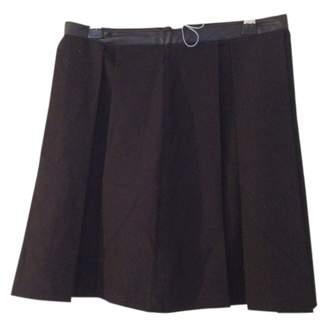 Suncoo Black Cotton Skirt for Women