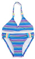 Hula Star 'Heart to Forget' Two-Piece Swimsuit (Toddler Girls)