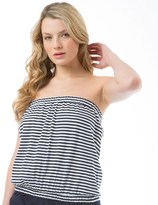 Board Angels Womens Striped Boob Tube Navy/White
