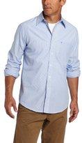 Izod Men's Big and Tall Essential Stripe Long Sleeve Shirt