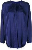 Raquel Allegra shirred peasant blouse - women - Cotton/Viscose - 1