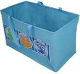 JVL Boy Kids Folding Toy Storage Bag with Handles, Monsters Face Design - Blue