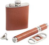 Bey-Berk Cigar & Flask Gift Set (4 PC)