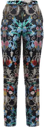Mary Katrantzou Brocade Slim-leg Pants