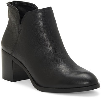 Enzo Angiolini Jainn Leather Block Heel Bootie