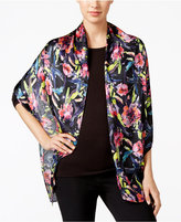 Echo Painterly Floral Oblong Wrap & Scarf in One