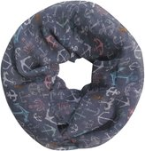 Lina & Lily Anchor Print Women's Infinity Loop Scarf