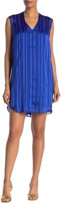 Rachel Roy June Tonal Stripe Curve Hem Dress