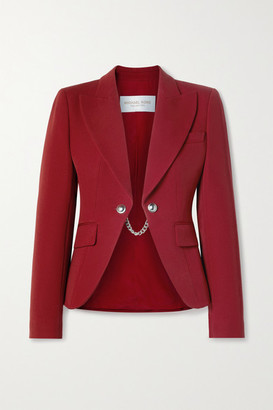 Michael Kors Chain-embellished Wool-twill Blazer - Red