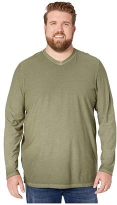 Tommy Bahama Cirrus Coast V-Neck Long Sleeve T-Shirt (Palm Moss) Men's Clothing