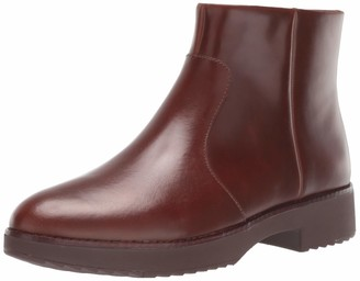 FitFlop Women's Maria Welted Ankle Bootie-Leather Boots