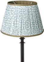 OKA 25cm Guilloche Pleated Cotton Drum Lampshade