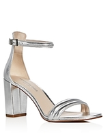 Kenneth Cole Lex Leather Ankle Strap High Heel Sandals
