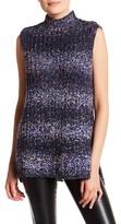 Milly Knit Stripe Sleeveless Hi-Lo Tunic