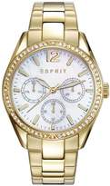 Esprit Women's 36mm Gold-Tone Steel Bracelet & Case Quartz Watch Es108932002