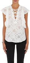 IRO Women's Gilka Lace-Up Top-WHITE