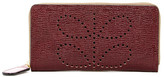 Orla Kiely Textured Leather Big Zip Wallet