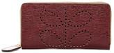 Orla Kiely Textured Leather Big Zip Wallet