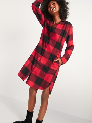 Old Navy Buffalo Plaid Flannel Nightgown for Women