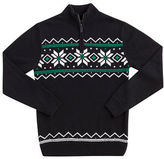 Chaps Patterned Half-Zip Sweater