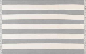 One Kings Lane Erika Cotton Stripe Rug - Gray