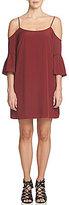 1 STATE Cold-Shoulder 3/4 Bell Sleeve Dress