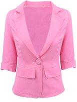 ACHICGIRL Women Lovely Slim Blazer One Button Short Suit Casual Blazer Outerwear