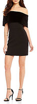WAYF Bravado Velvet Off-The-Shoulder Cap Sleeve Mini Dress