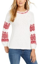 Style&Co. Style & Co Fair-Isle Boat-Neck Sweater, Created For Macy's