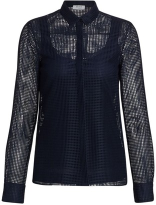 Akris Punto Mesh Button-Down Shirt