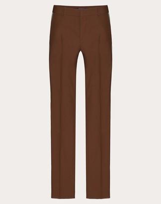 Valentino Slim-leg Cotton Pants Man Brown 100% Cotone 44