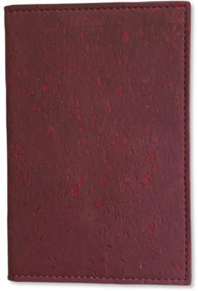 Blackwood Burgundy Cork Leather Passport Cover
