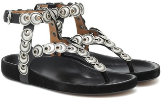 Isabel Marant Eldo embellished leather sandals