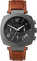 Links of London Brompton stainless steel and leather watch