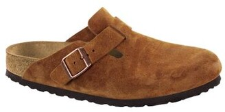 Birkenstock Boston Soft Footbed Mink Suede